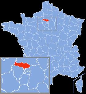 Carte du Val d'Oise