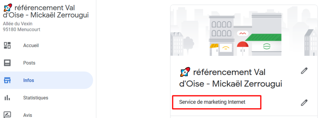 optimiser catégorie Google My Business